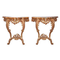 French Gilt Wood Consoles