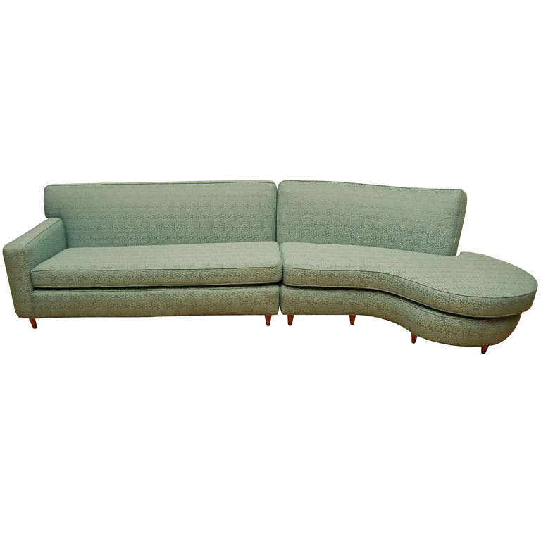 Sectional Sofa with Free Form End at 1stdibs