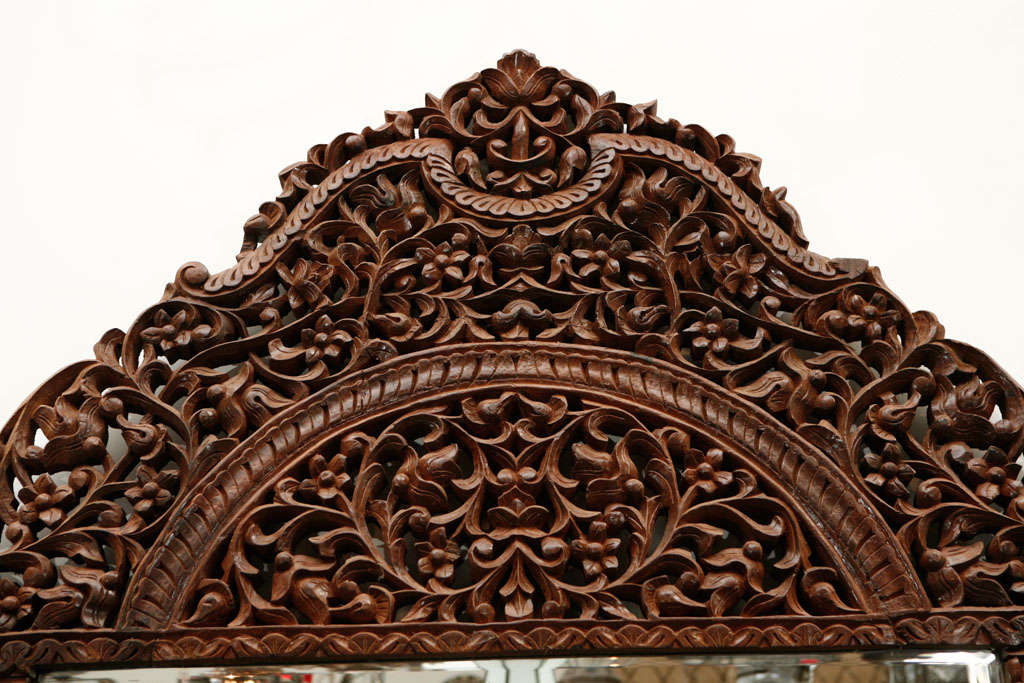 Mirror 9' 8 Giant Hand Carved Anglo Indian image 2