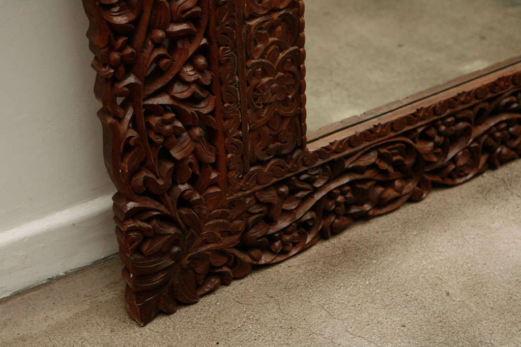 Mirror 9' 8 Giant Hand Carved Anglo Indian image 8