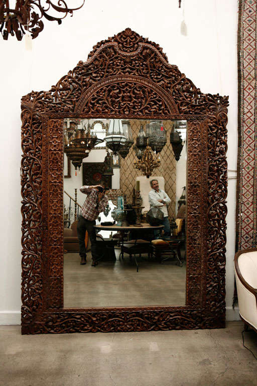 Mirror 9' 8 Giant Hand Carved Anglo Indian image 9