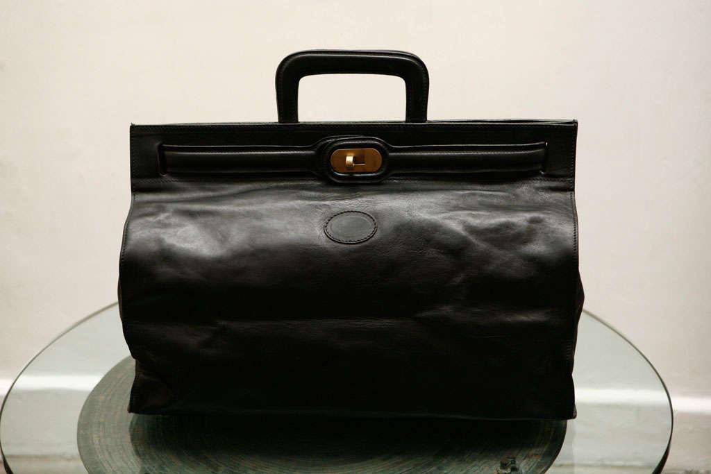 Elegant Classic Doctor Black Leather travel Bag 10