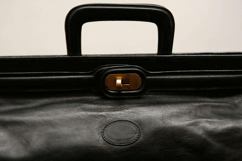 Elegant Classic Doctor Black Leather travel Bag 3