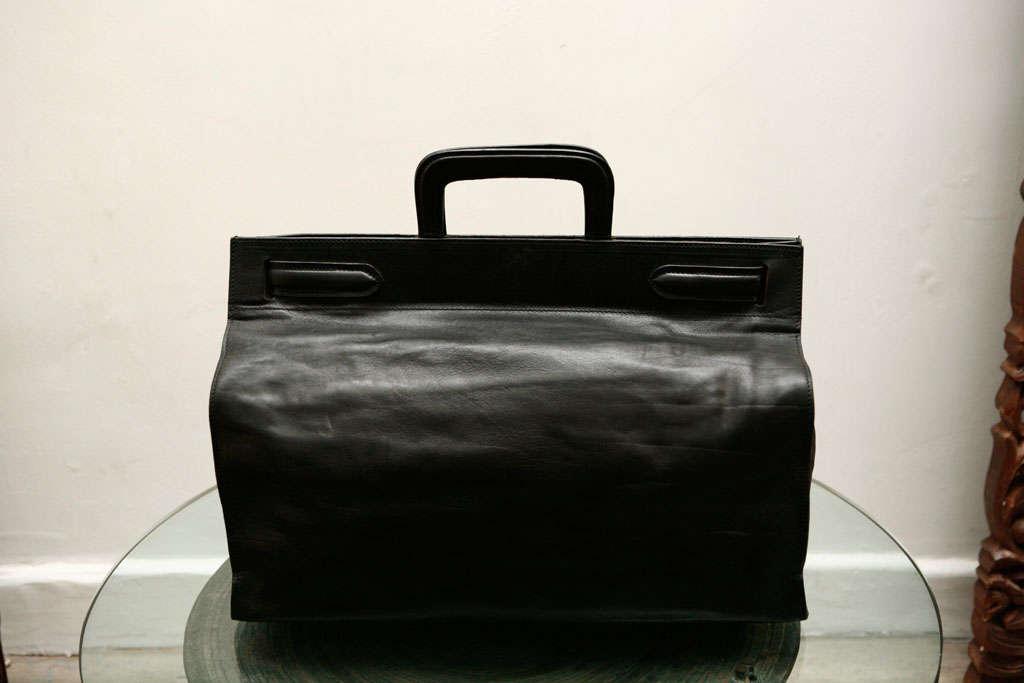 Elegant Classic Doctor Black Leather travel Bag 5