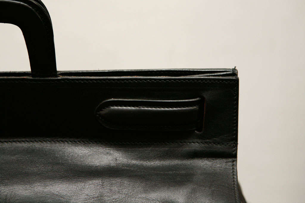 Elegant Classic Doctor Black Leather travel Bag 6