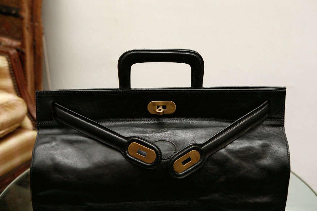 Elegant Classic Doctor Black Leather travel Bag 7