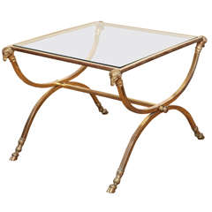 A Maison Jansen Style French Bronze Side Table