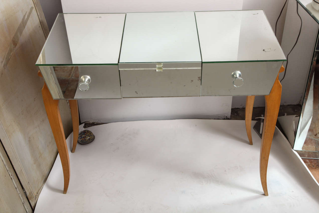 Art Deco French Mirrored Vanity Or Poudr 233 At 1stdibs