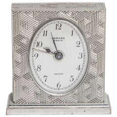 Hermes Art Deco Travel Clock in Box
