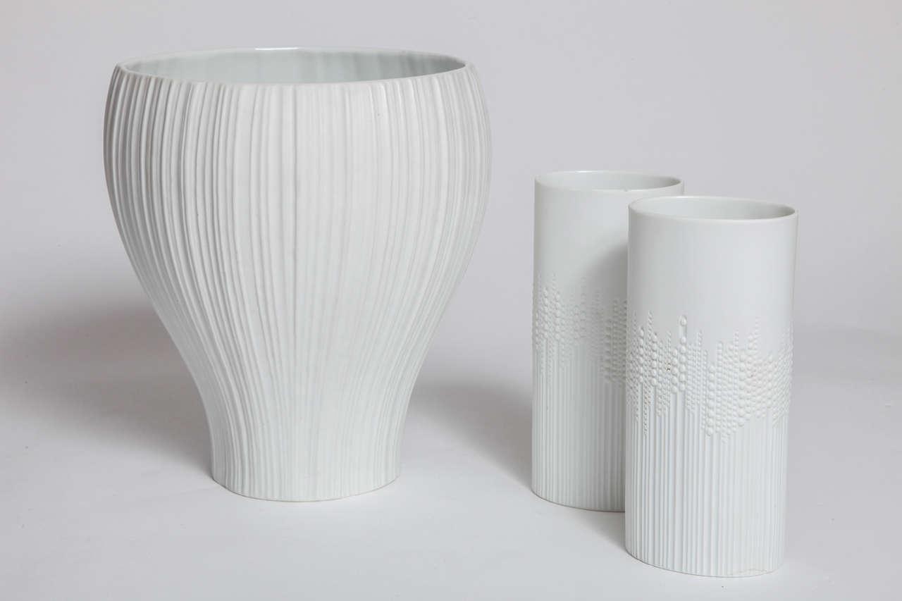 Three Rosenthal Studio Line Porcelain Vases By Tapio