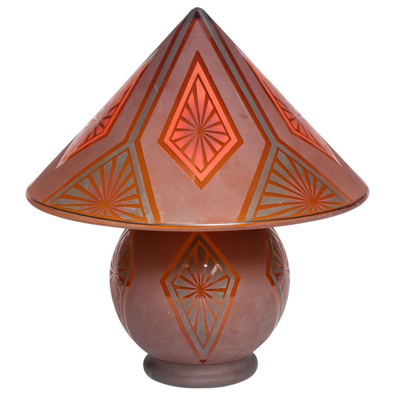 Bellova glass art deco table lamp circa 1925 czechoslovakia for bellova glass art deco table lamp circa 1925 czechoslovakia 1 geotapseo Images