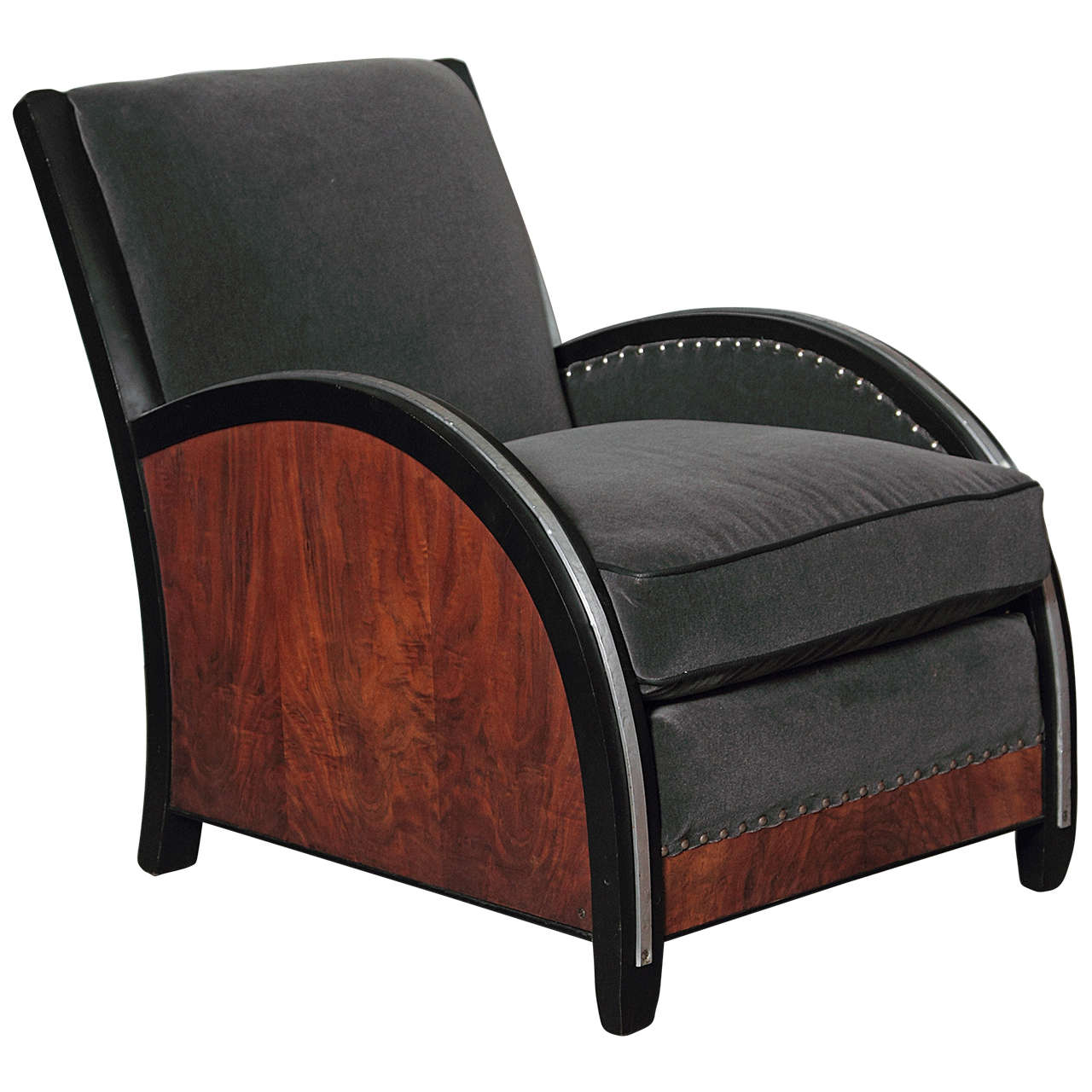 Machine Age Art Deco Modernist Lounge Chair in the manner of Paul Frankl