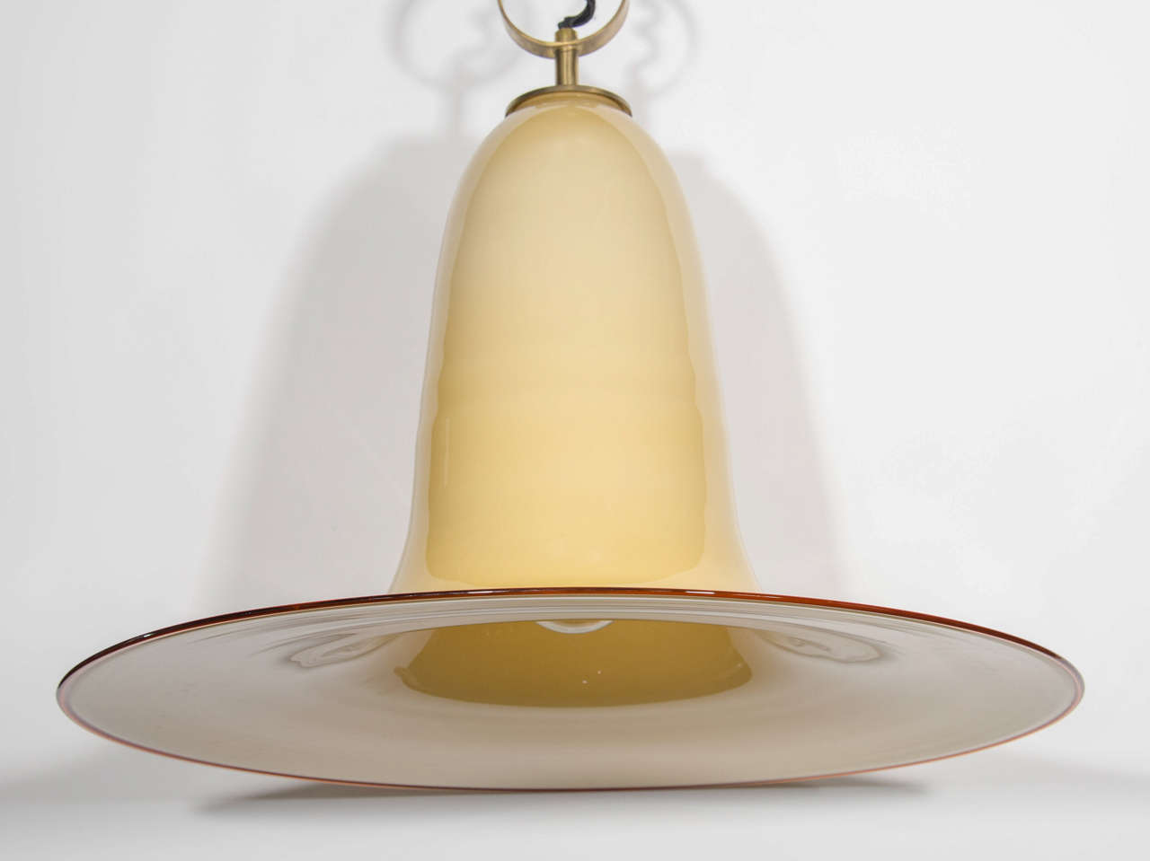 Hand-Crafted Mid-Century Murano Glass Pendant Chandelier by Seguso For Sale