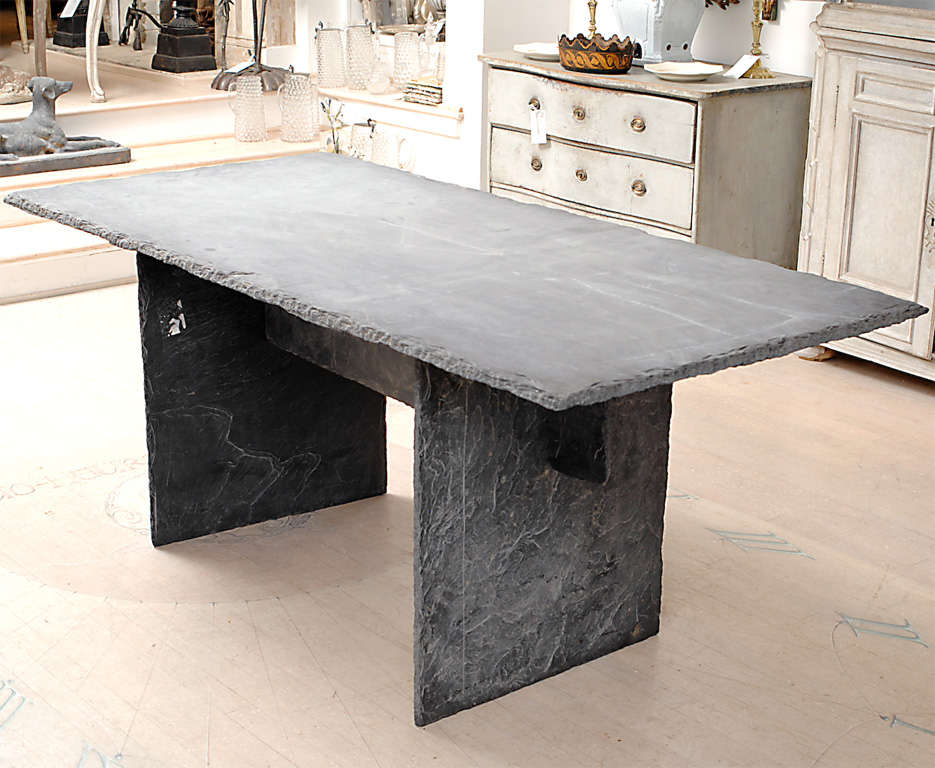 Rectangular Slate Table from the Loire Valley image 2