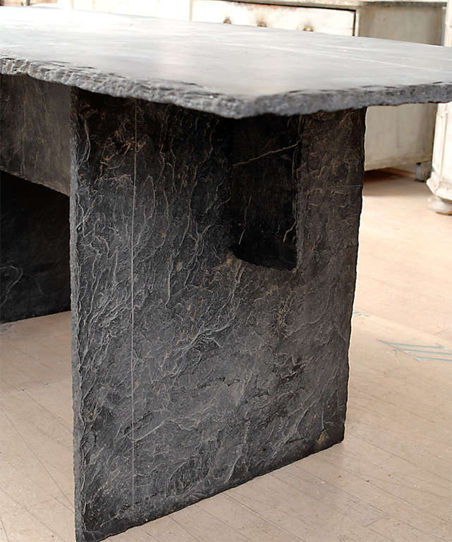 Rectangular Slate Table from the Loire Valley image 3