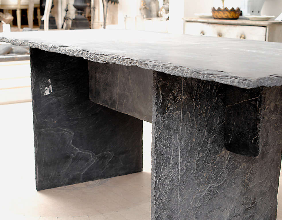 Rectangular Slate Table from the Loire Valley image 4