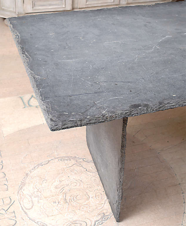 Rectangular Slate Table from the Loire Valley image 7