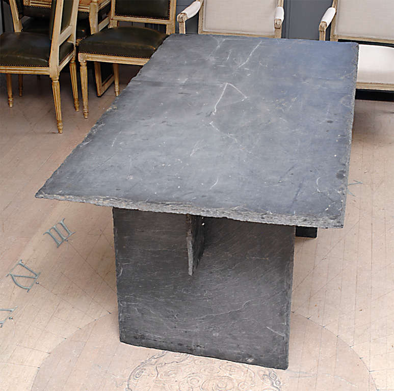 Rectangular Slate Table from the Loire Valley image 8