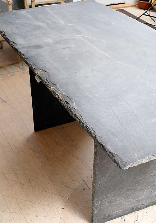 Rectangular Slate Table from the Loire Valley image 9