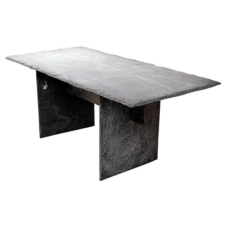 Rectangular Slate Table from the Loire Valley