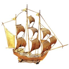 Gilt Sail boat model