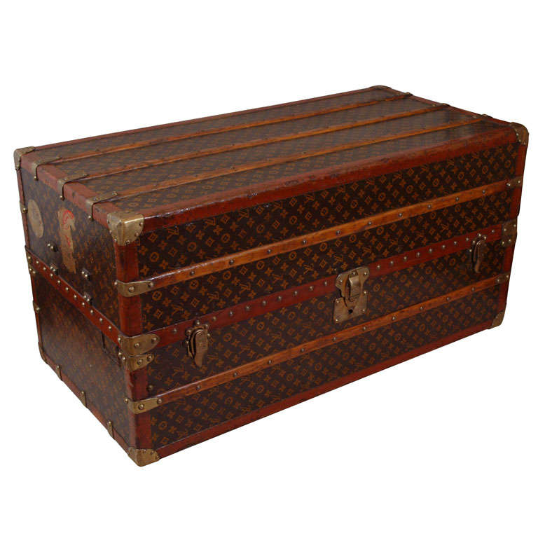 Vintage Vuitton Steamer Trunk Coffee Table France C 1920 At 1stdibs