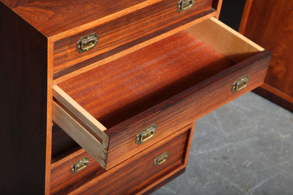 Ole Wanscher Rosewood Captain S Chest At 1stdibs