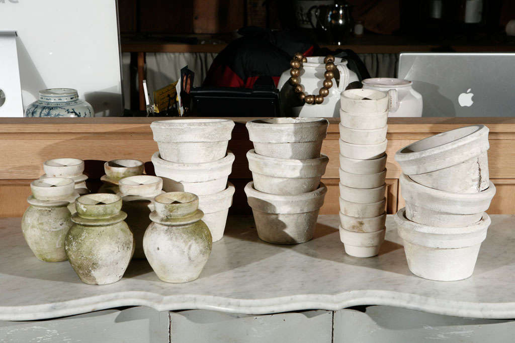 Beautifully aged unglazed pottery. Priced Individually.<br /> Prices Vary. Large $125 Small $45 Priced individually. Call for sizing