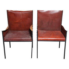 Pair of Jean Michel Frank Style Armchairs