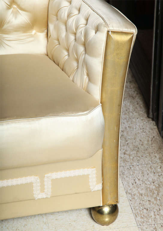 French Unusual Pair of Art Deco Style Armchairs For Sale