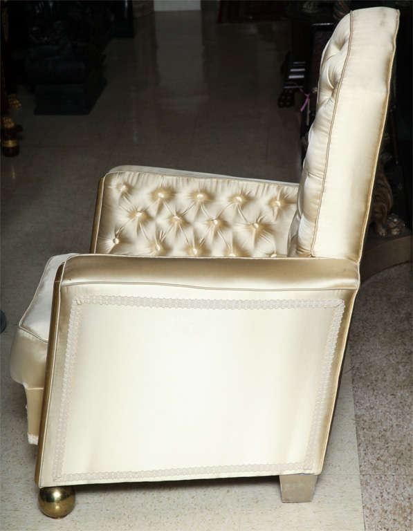 20th Century Unusual Pair of Art Deco Style Armchairs For Sale