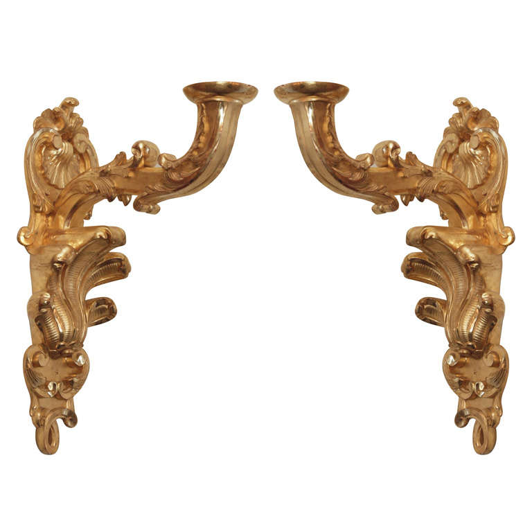 P0air Of Louis Xv Gilt Wood Appliques For Sale At 1stdibs