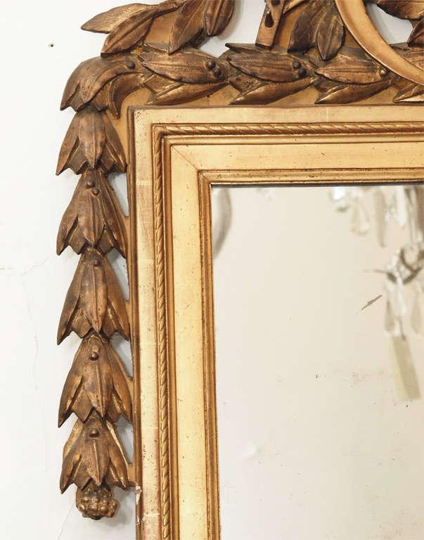 PERIOD LOUIS XVI GILTWOOD MIRROR For Sale 1