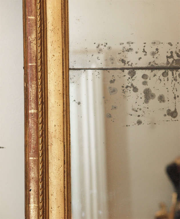 PERIOD LOUIS XVI GILTWOOD MIRROR For Sale 2