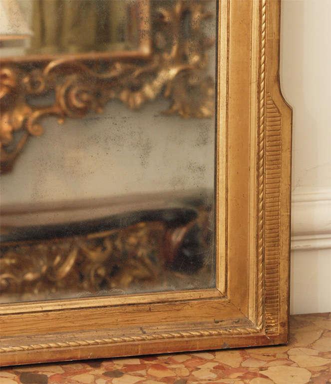 PERIOD LOUIS XVI GILTWOOD MIRROR For Sale 3