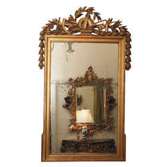 PERIOD LOUIS XVI GILTWOOD MIRROR