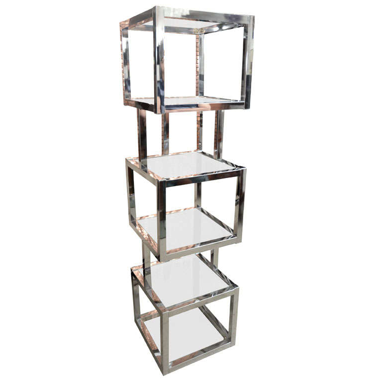 Sculptural cube tower etagere - Etagere cube modulable ...