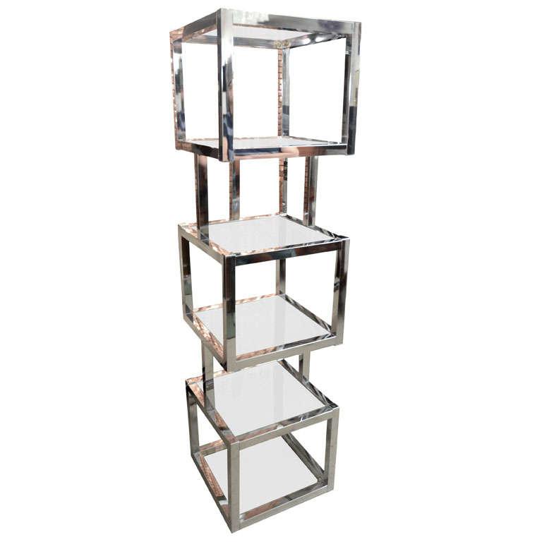 sculptural cube tower etagere. Black Bedroom Furniture Sets. Home Design Ideas