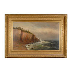 Large Coastal Scene by American Painter Wesley Webber