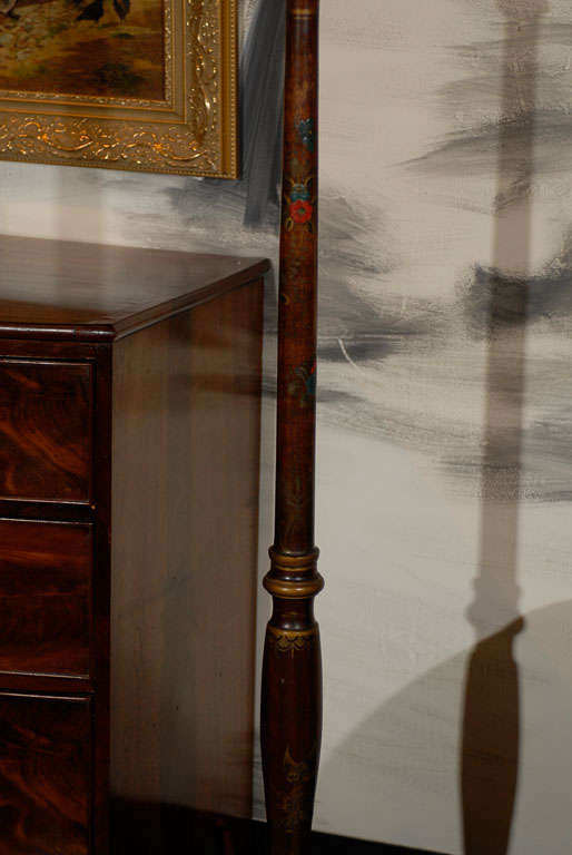 Chinese Chippendale English Chinoiserie Floor Lamp For Sale
