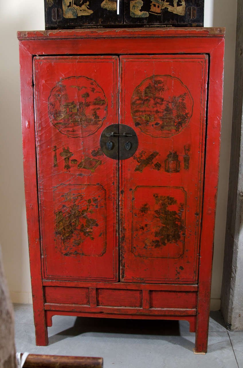 antique snake lacquer cabinet for sale at 1stdibs