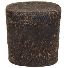 Antique Bamboo and Lacquer Box