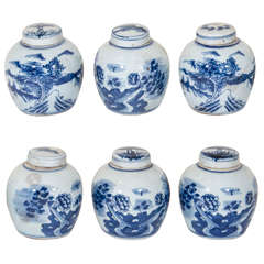 Small Antique Porcelain Tea Containers