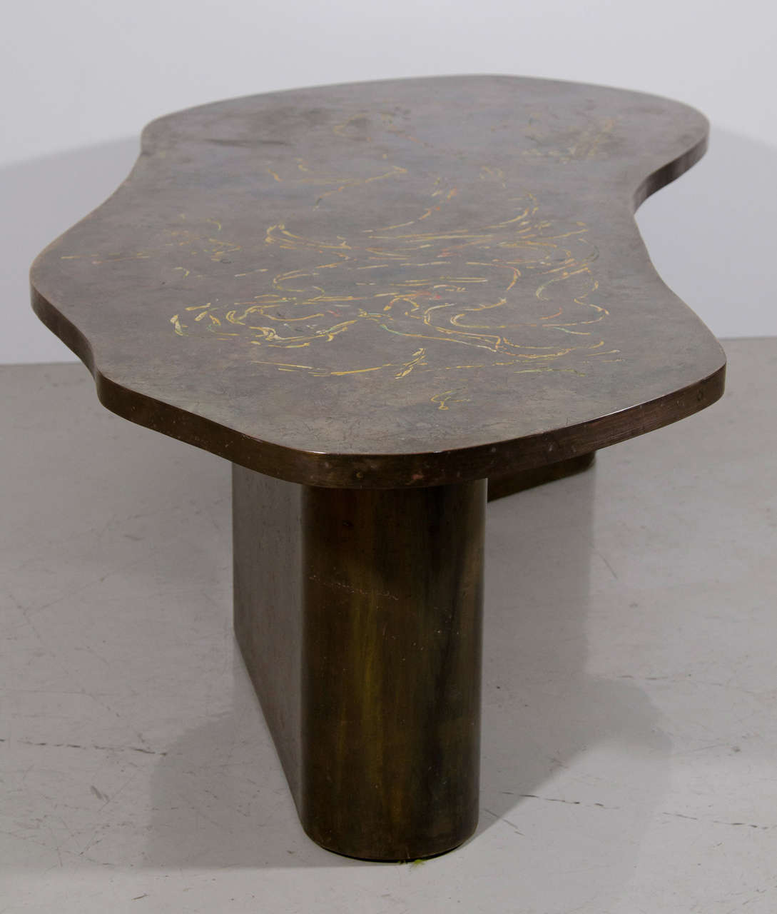 Bronze Woman Coffee Table: LaVerne Bronze Coffee Table With Reclining Female Figure