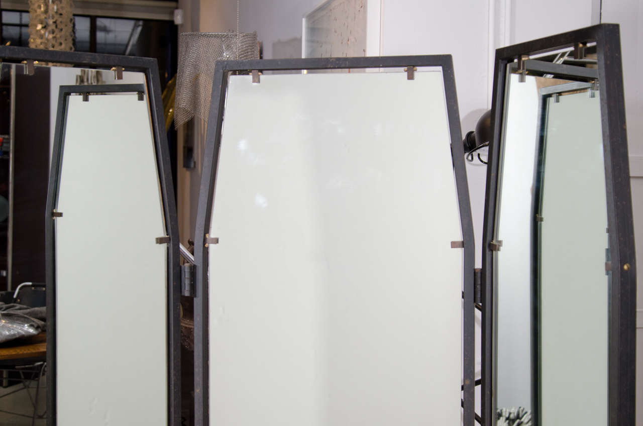 Italian full length adjustable three way mirror for sale for Floor mirrors for sale