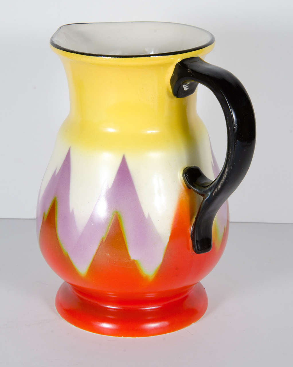 Art Deco Hand Painted Ditmar Urbach Pitcher From