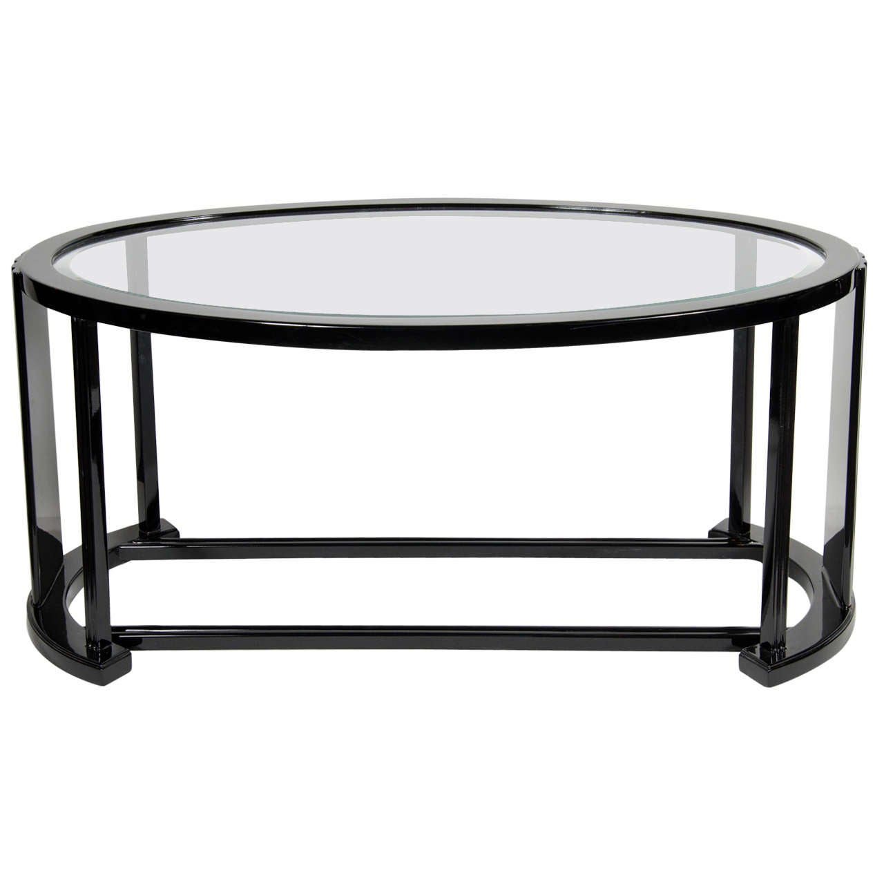 Art Deco Bauhaus Influence Ovoid Cocktail Table At 1stdibs
