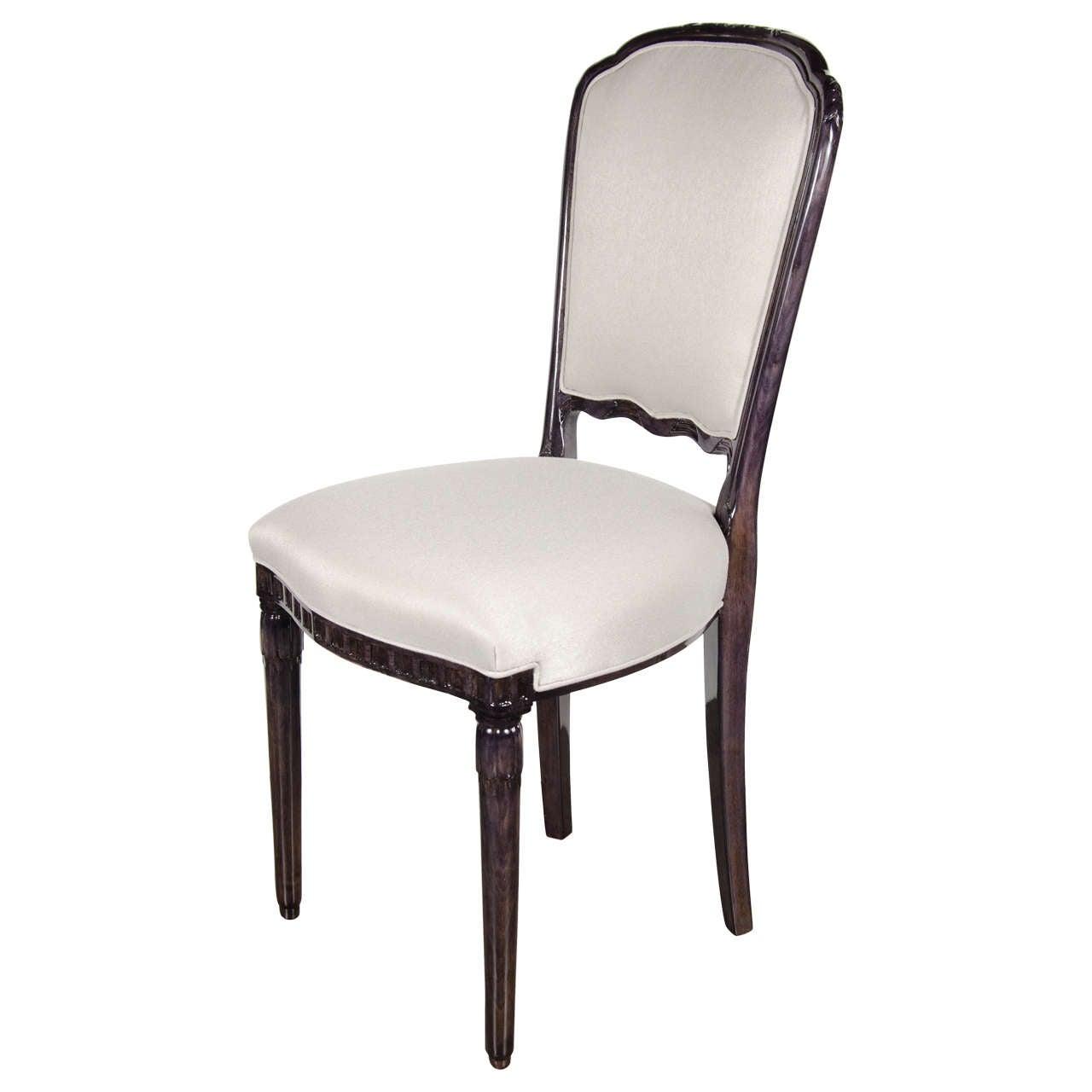 Elegant art deco side vanity chair in the manner of ruhlmann at 1stdibs - Elegant vanity stools ...