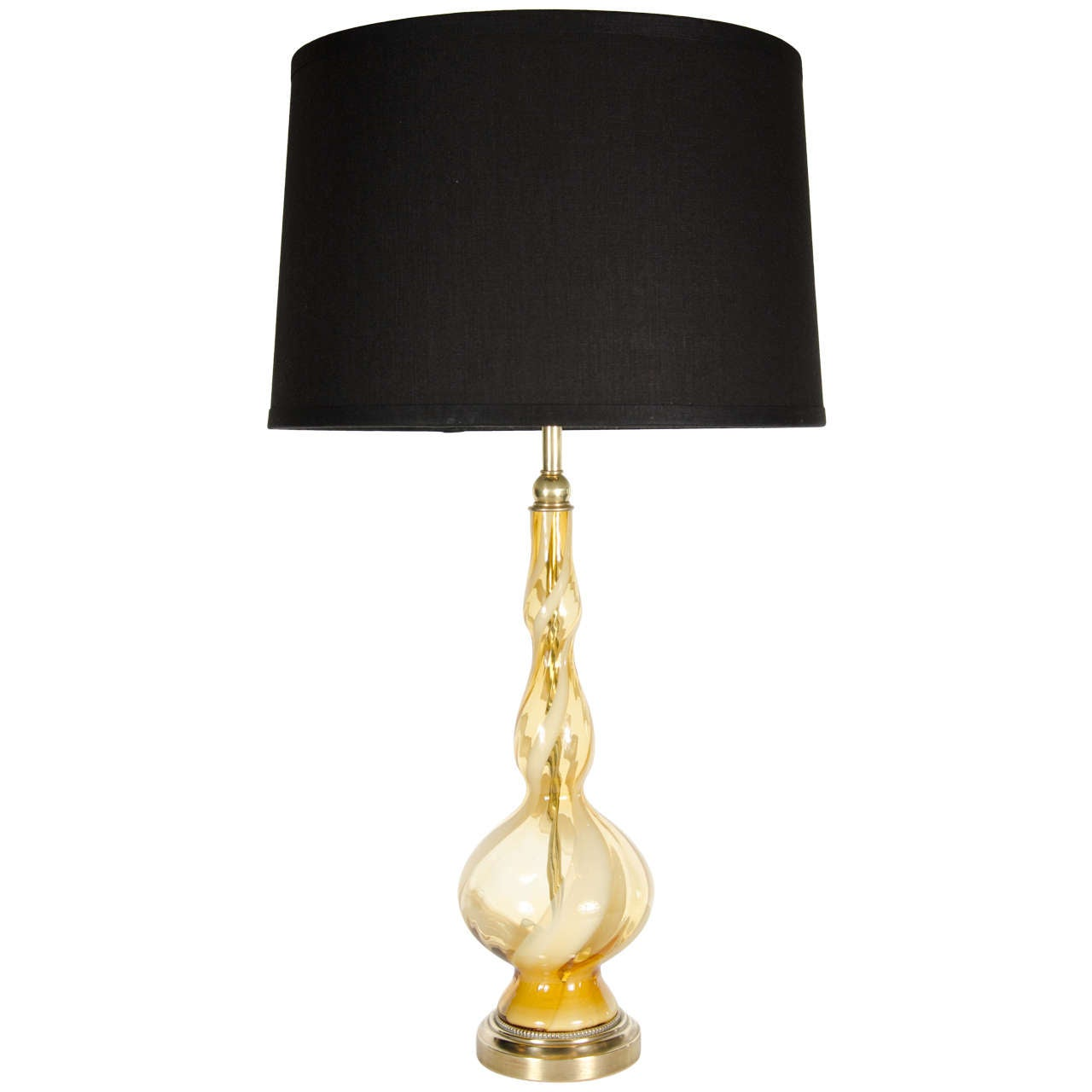 exquisite hand blown murano glass table lamp at 1stdibs. Black Bedroom Furniture Sets. Home Design Ideas
