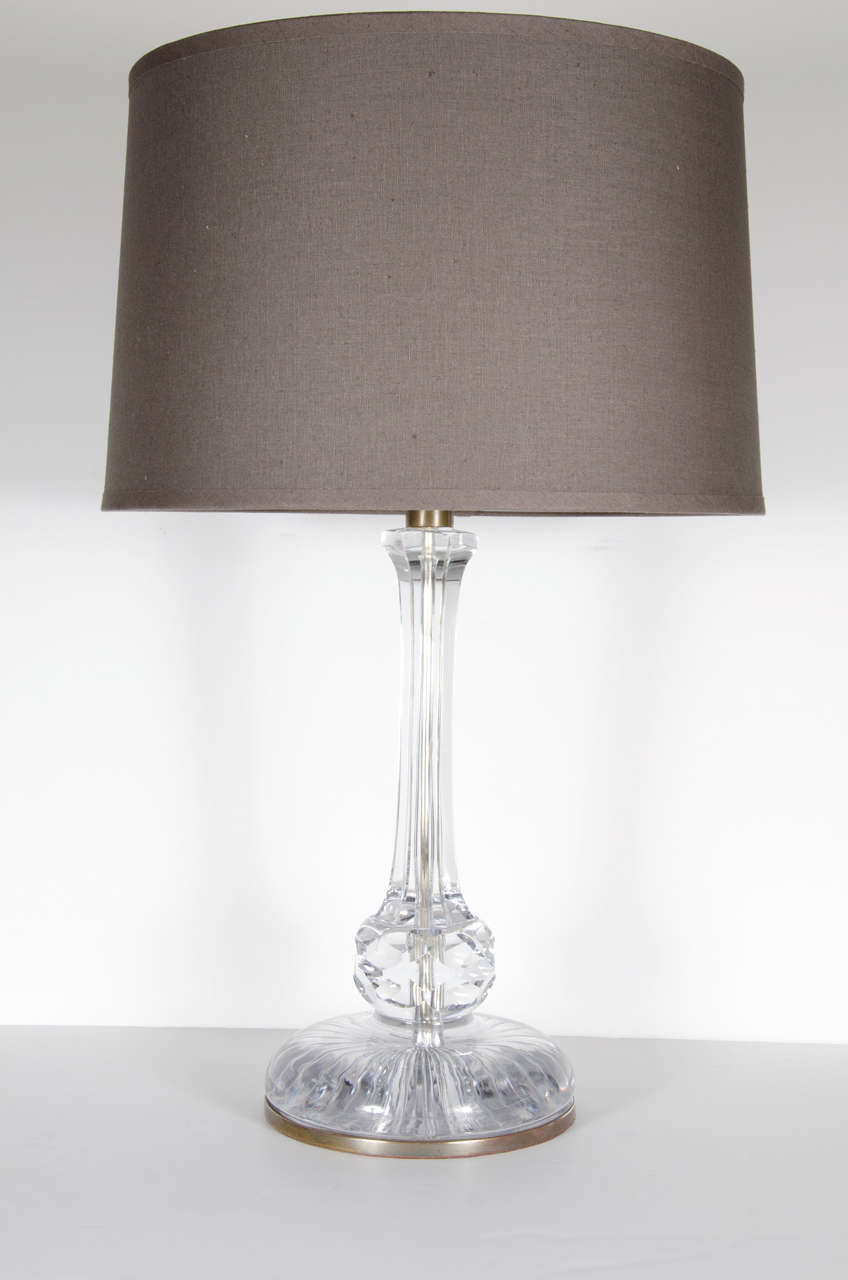 Exquisite art deco crystal table lamp by baccarat for sale at 1stdibs this exquisite art deco table lamp by baccarat features a well proportioned base for stability adorned keyboard keysfo